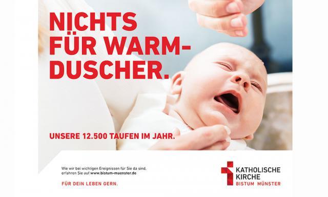 Affiche van de campagne van het bisdom Münster © Bisdom Munster