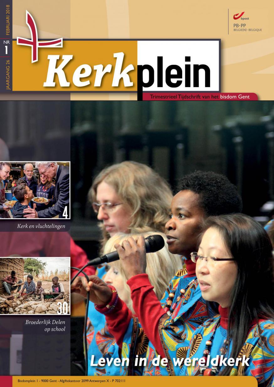 Kerkplein februari 2018 - cover  © Bisdom Gent