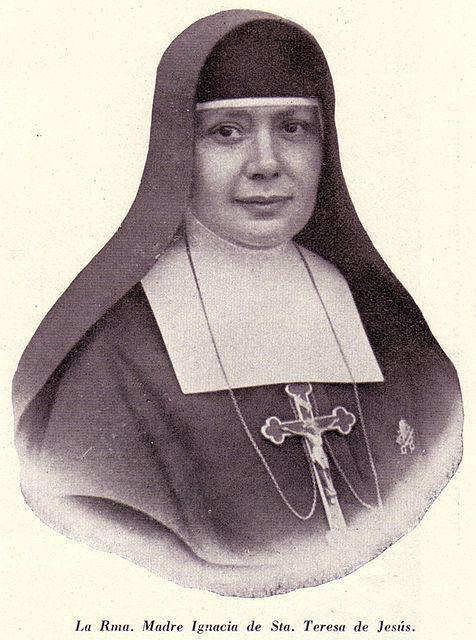 Zuster Nazaria Ignacia van de heilige Theresa van Jezus, stichteres van de missionarissen van de Kruistocht.