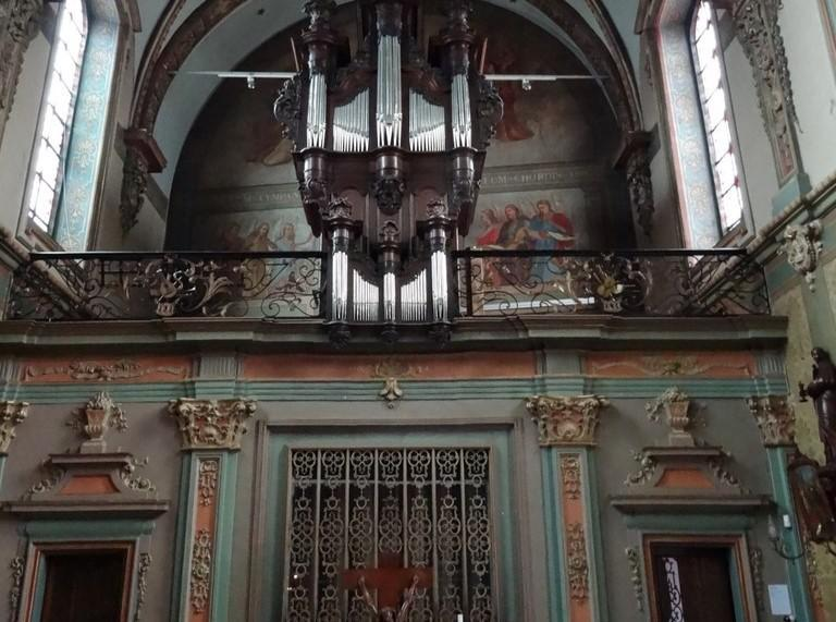 Het interieur van de kapel van het klooster van het Onze-Lieve-Vrouwhospitaal in Kortrijk © Beeldbank Vlaanderen