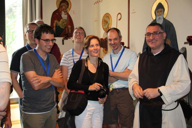Op bezoek in het iconenatelier © CCV in het Bisdom Gent, foto: Gezinvolgeloven