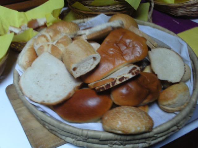 De broodjes die de kinderen willen delen