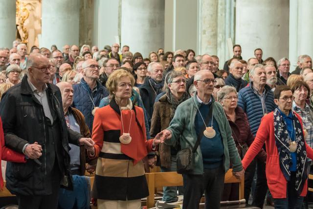 Compostelabedevaarders © Dees Van Caeyzeele/Vlaams Compostelagenootschap