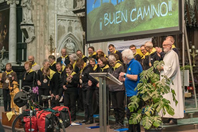 Het pelgrimskoor Adalard van Aubrac © Dees Van Caeyzeele/Vlaams Compostelagenootschap