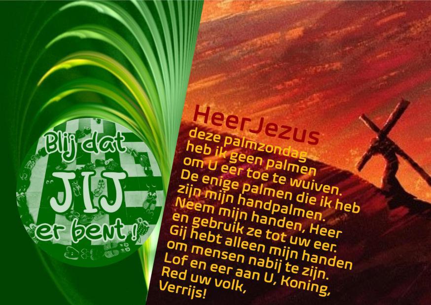 Palmkaartje PE Ledegem en Rumbeke en Darky Seynaeve © PE Ledegem en Rumbeke en Darky Seynaeve