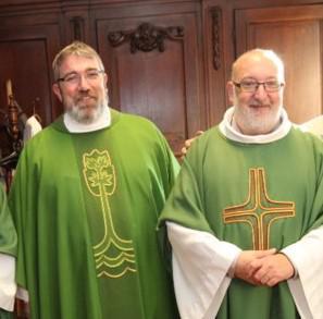Vicaris Wim Selderslaghs en pastoor-deken Lieven Snyers