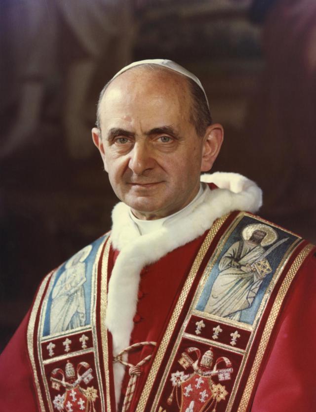 Paus Paulus VI (1897-1978) werd heiligverklaard op 14 oktober 2018