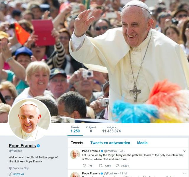 Paus Franciscus op Twitter