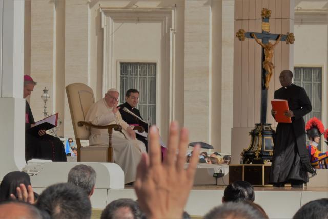 Paus Franciscus beantwoordt ons enthousiasme... © Johannes 23 seminarie