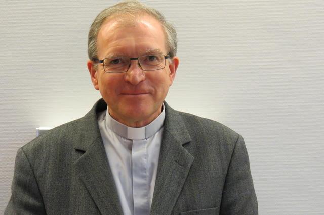 Mgr. Pierre Warin, hulpbisschop voor het bisdom Namen © IPID