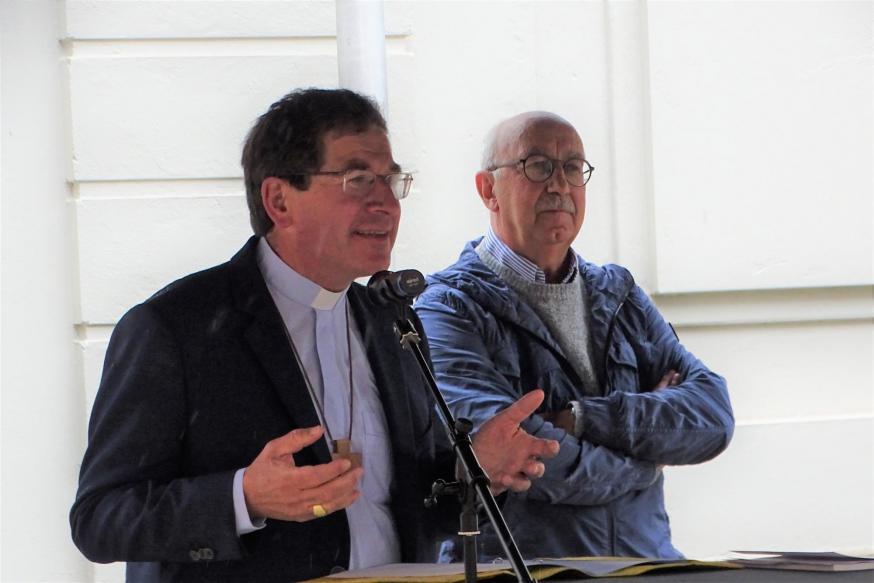 Bisschop Lode Aerts en Hubert Sanders © Michiel Van Mulders