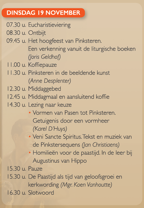 Programma Liturgisch congres © ccv