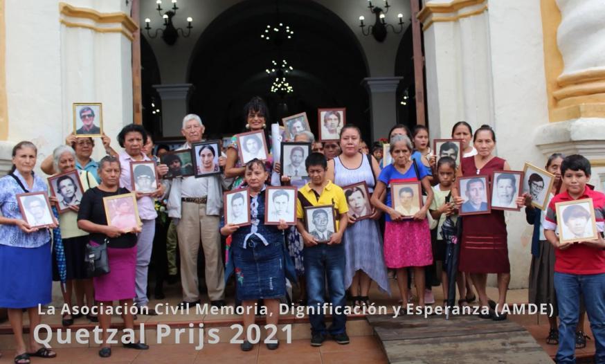 Laureaat van de Quetzalprijs 2021 van de vzw Guatebelga is de Asociación Memoria Dignificación Esperanza actief in Santa Lucía Cotzumalguapa in Guatemala © Guatebelga