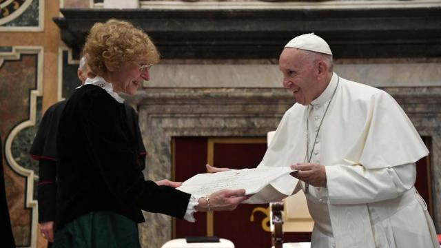 De theologe Schlosser, winnaar van de Ratzingerprijs 2018 © Vatican Media