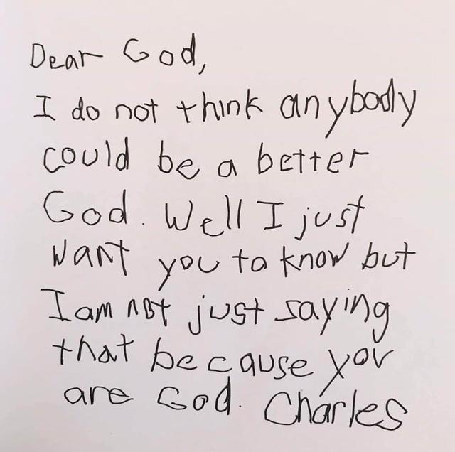 Lieve God, niemand kan een betere God zijn dan jij en ik zeg dat niet zomaar omdat je God bent. © Bored Panda