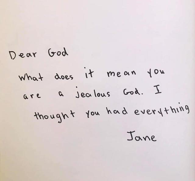 Wat betekent het dat jij een jaloerse God bent? Je hebt toch al alles? © Bored Panda