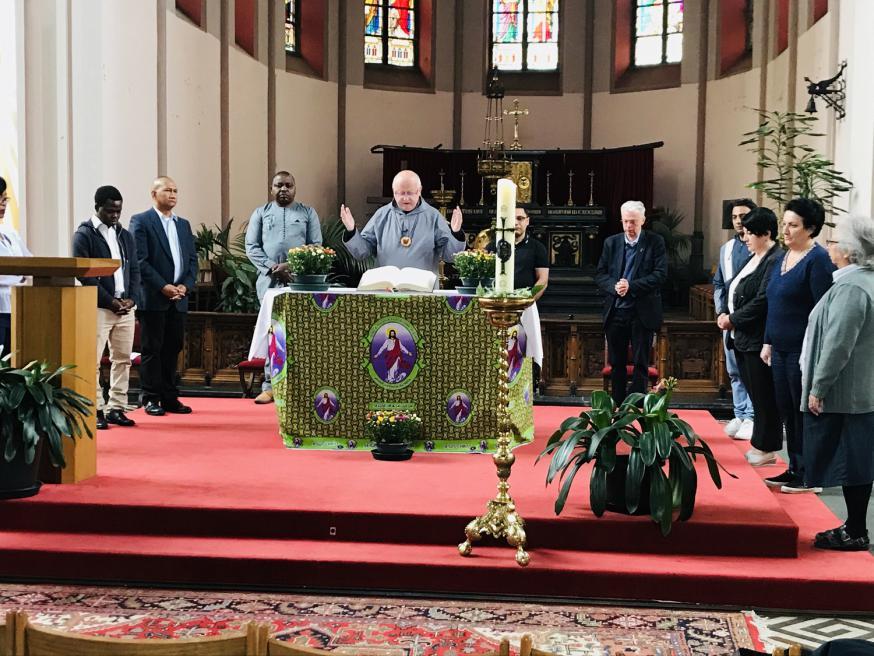 Opname in Regenboogkerk 8 juni 2020 © Bisdom Gent