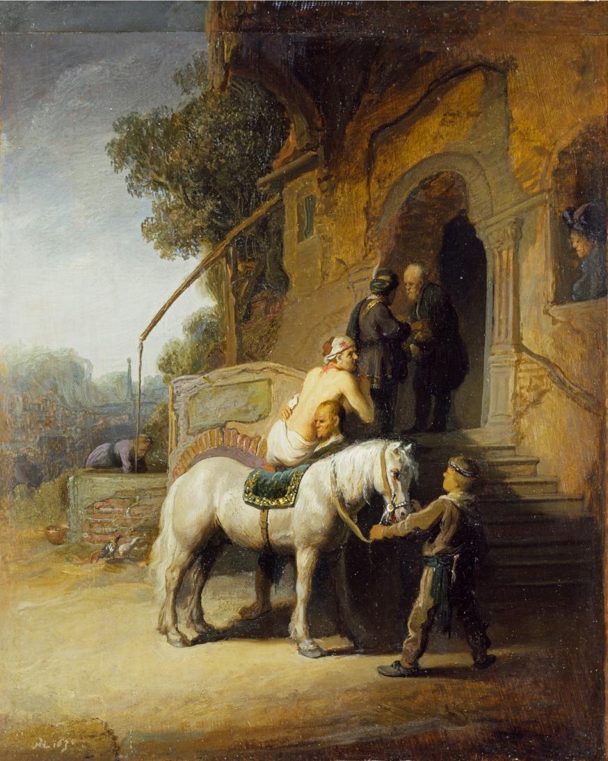 Rembrandts 'De Barmhartige Samaritaan' uit 1633. © Wikimedia