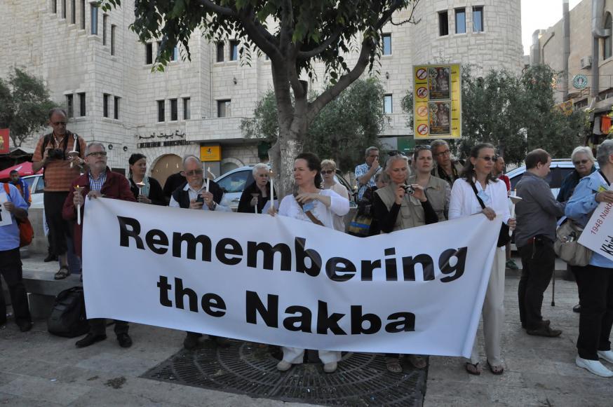 Met Stiltecirkels wil Pax Christi op 15 mei in Vlaamse steden ook de Nakba herdenken © Pax Christi Vlaanderen