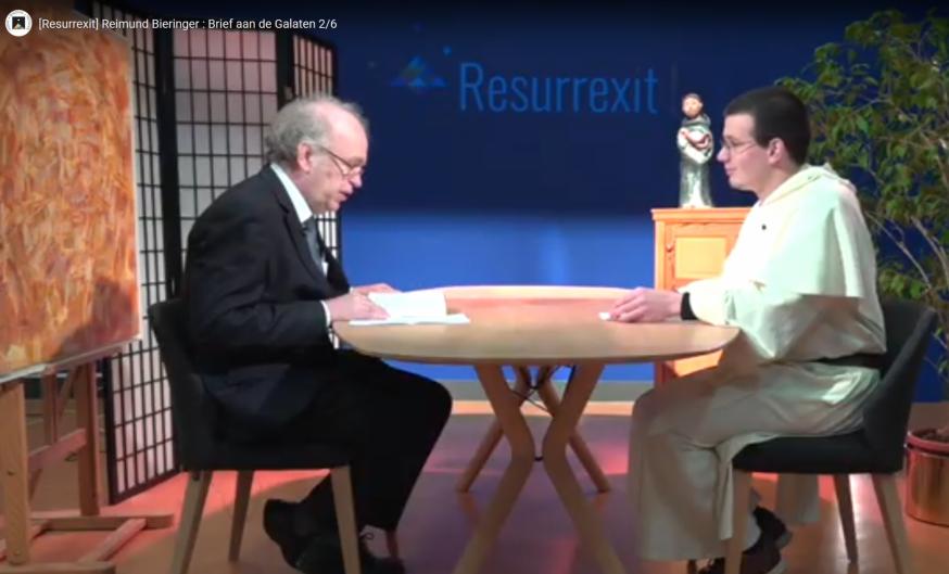Prof Reimund Bieringer en dominicaan Anton-Marie Milh in Resurrexit, de videoreeks van de dominicanen © Dominicains.Tv