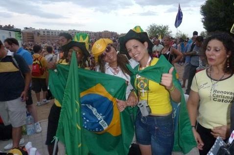 Braziliaanse jongeren tijdens wereldjongerendagen in Rio © IJD