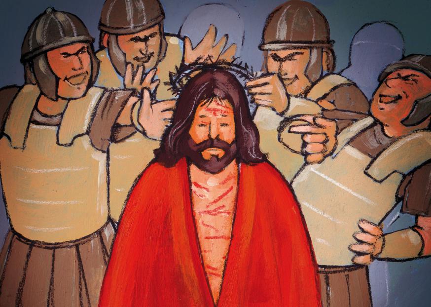 Jezus is gefolterd © Roel Ottow