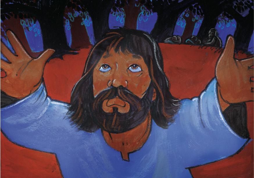 Jezus in gebed op de Olijfberg © Roel Ottow