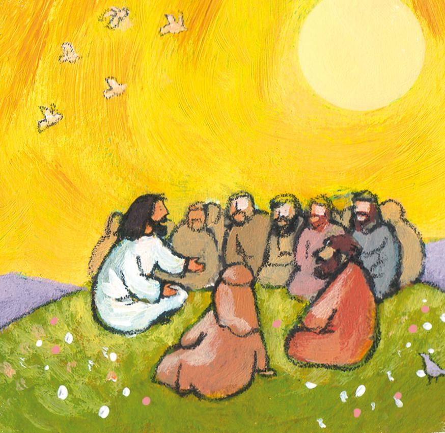 Jezus vertelt © Roel Ottow