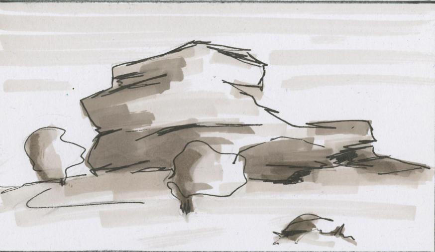 Rots © Bisdom Gent, tekening: Koen Van Loocke