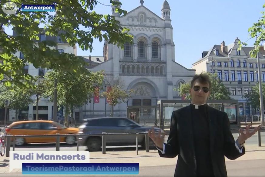 Pastoor Rudi Mannaerts op ATV: een dagje Italië in Antwerpen © ATV