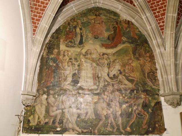 Muurschildering 'Het Laatste Oordeel' in de Sint-Martinuskerk (Aalst)