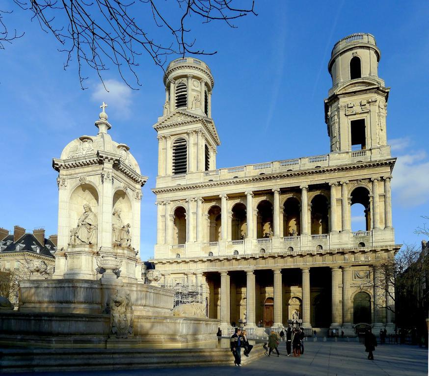 De kerk van Saint-Sulpice in Parijs © Wikipedia