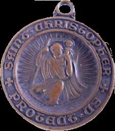 Medaille met Sint-Christoffel © rr