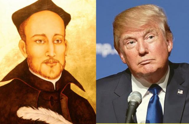 Kan Trump leren van Ignatius? © Montage Wikipedia