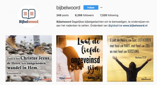 Bijbelwoord © Instagram