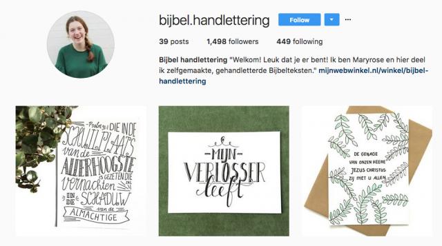 Bijbel.handlettering © Instagram