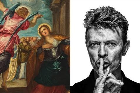 'De Heilige Catharina' en David Bowie. © Rubenshuis