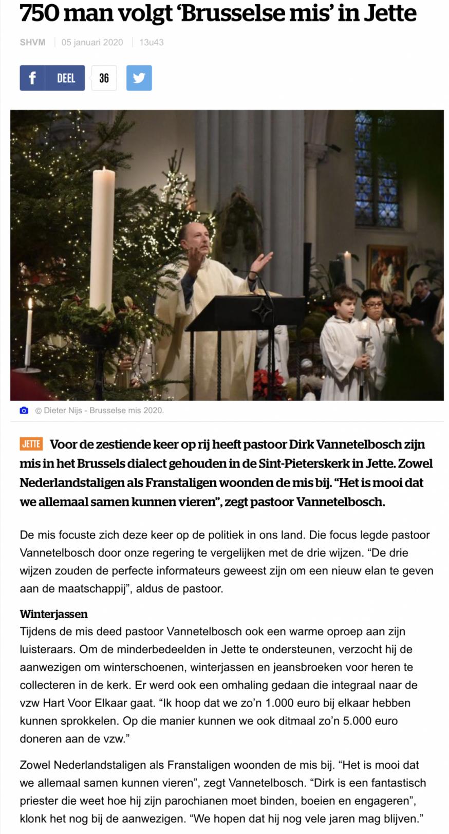 Brusselse mis in Jette 2020 © HLN