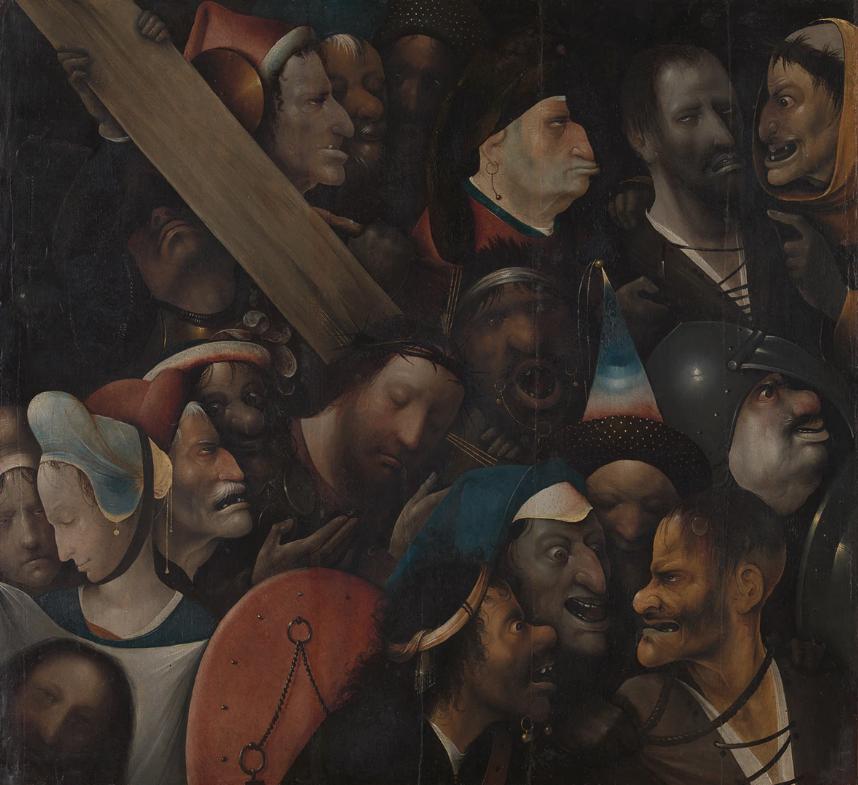 Jeroen Bosch (attr.), 'De kruisdraging'. © MSK Gent