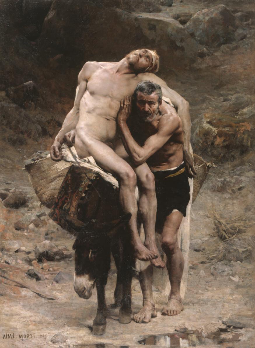 'Le bon Samaritain' van Morot. © Wikimedia Commons