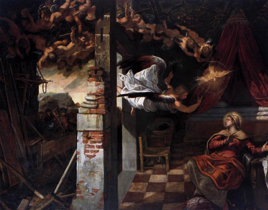 De Annunciatie door Il Tintoretto © Wikipedia