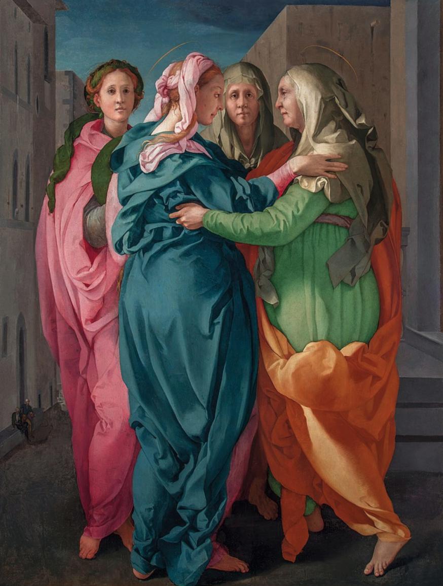 De Visitatie van Jacopo Pontormo. © Wikipedia