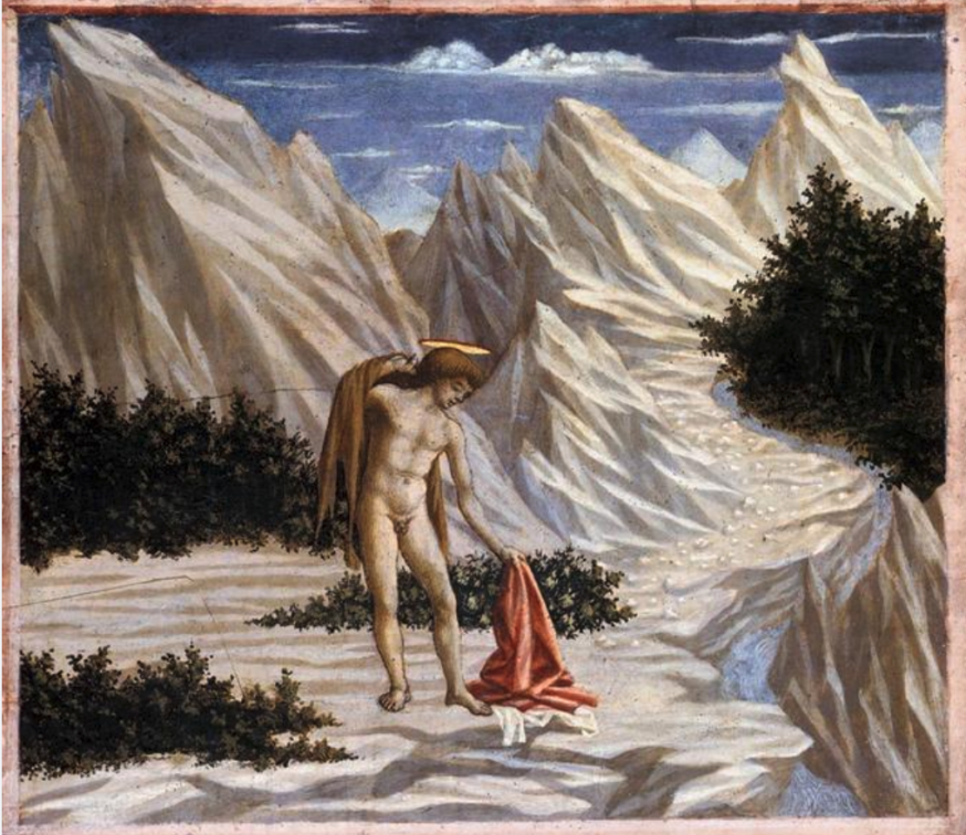 'De Heilige Johannes in de woestijn' door Domenico Veneziano. © Wikipedia