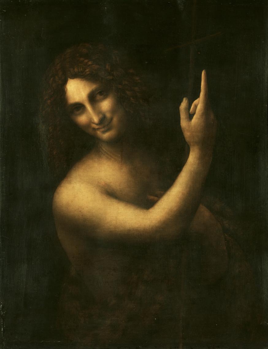 'Johannes de Doper,' het laatste werk van Leonardo da Vinci. © Wikipedia