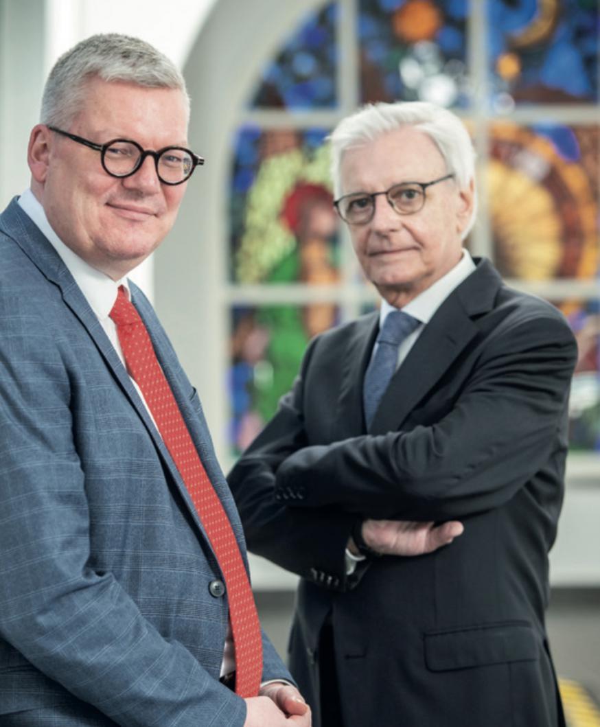 Jürgen Mettepenningen en Luc Steyaert. © Halewijn