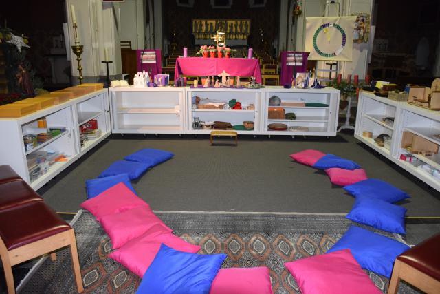 De Godly Play ruimte in de H. Familiekerk in Schiplaken © Hilde Pex
