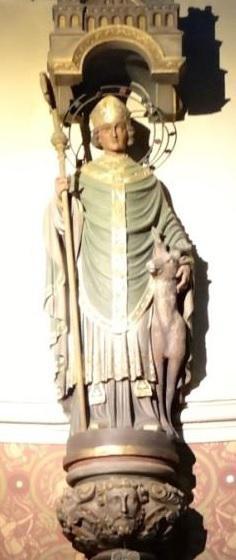 Beeld van Sint-Gillis met zijn hinde © Vicariaat Brussel