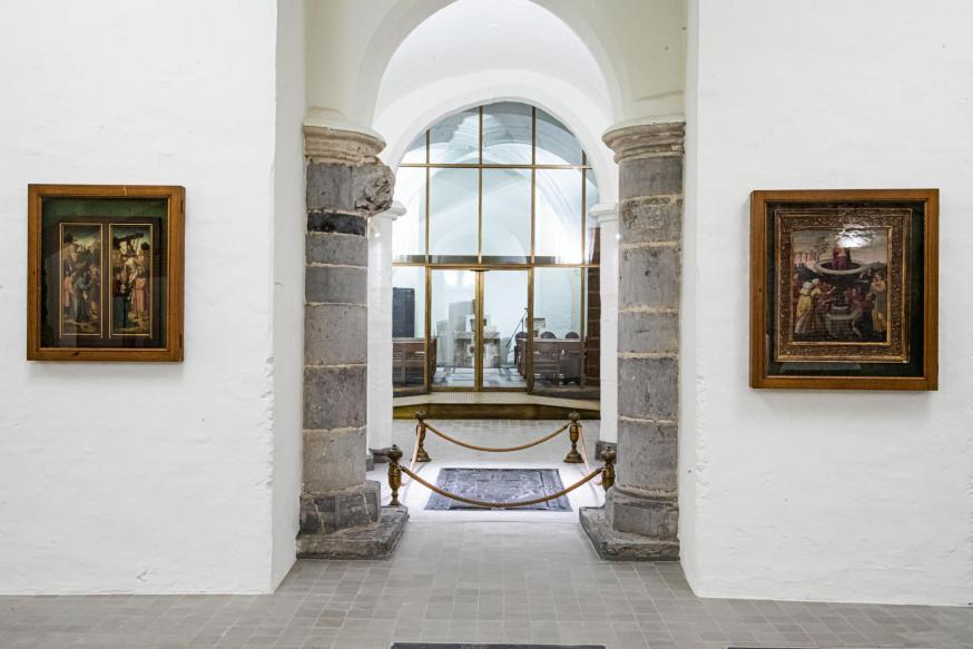 De crypte van de kathedraal werd grondig gerenoveerd. © Sint-Baafskathedraal Gent – www.artinflanders.be – Bas Bogaerts