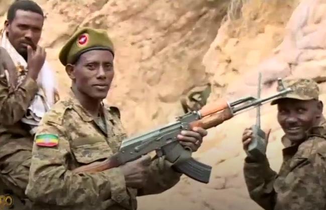 Ethiopische troepen bij hun inval in Tigray in november vorig jaar  © abc_net_au
