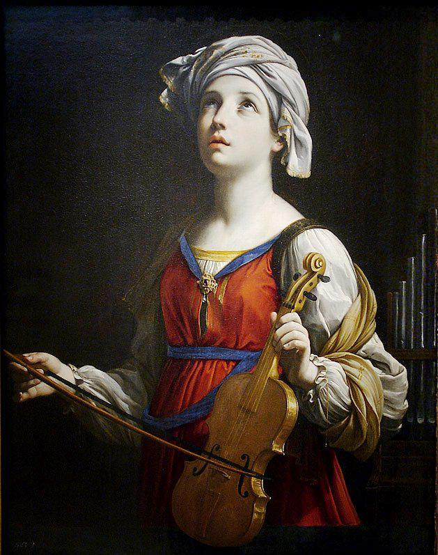 De heilige Cecilia, door Guido Reni (1603) © Wikipedia
